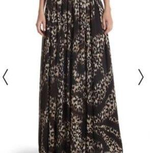 White House Black Market Leopard Maxi Skirt